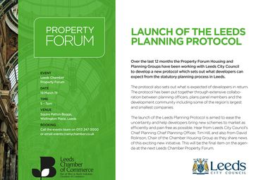 Launch of Leeds Planning Protocol