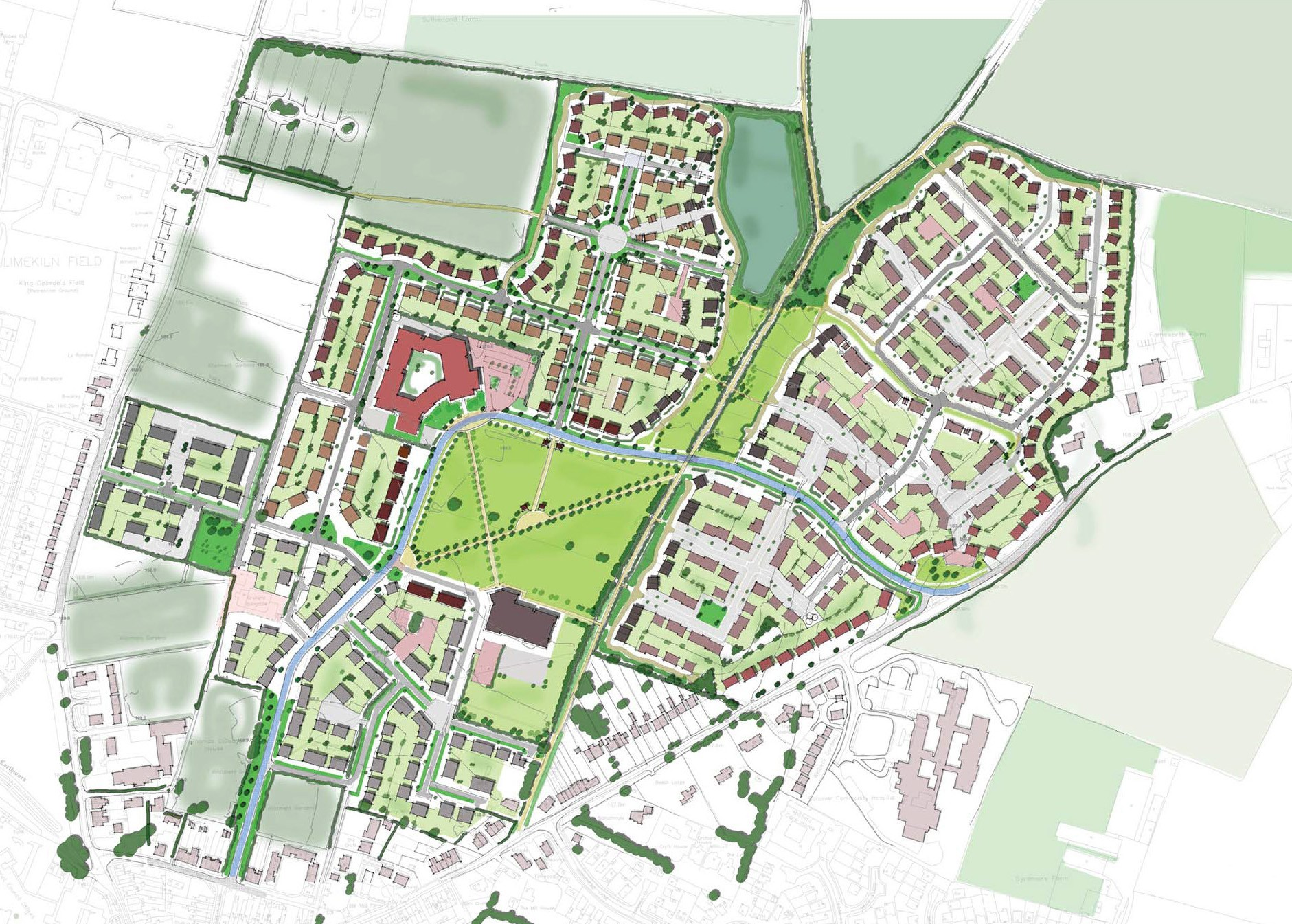 MASTERPLANS FOR GREEN FIELD SITES